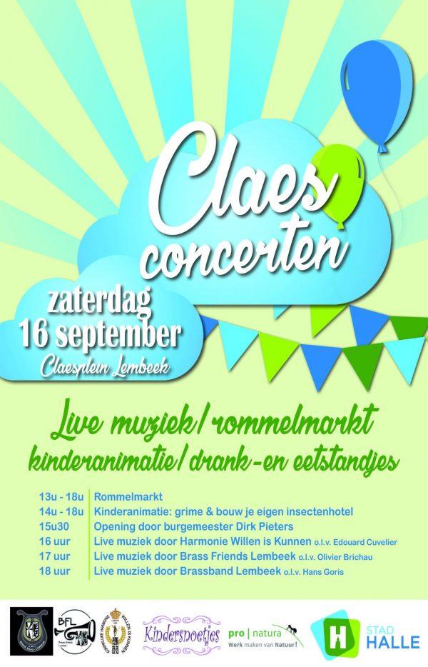 Poster Claesconcerten