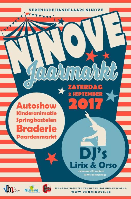 Poster van de Jaarmarkt Ninove