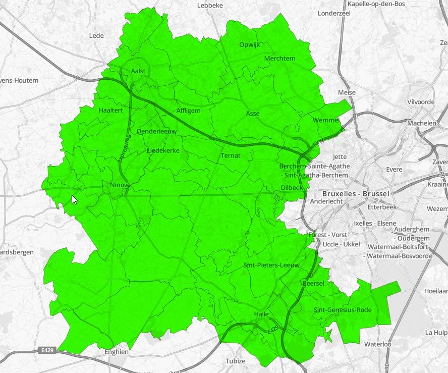Een Gemeente kaart waar wij actief zijn